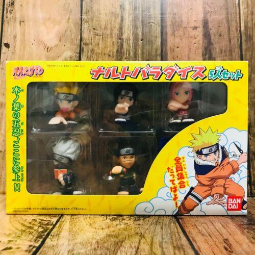 Bandai 2004 Naruto Paradice Figure Set of 5