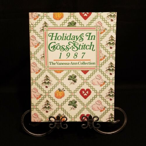 Holidays In Cross Stitch 1987 Vanessa-Ann Collection Patterns By Month Vtg Book - $12.00