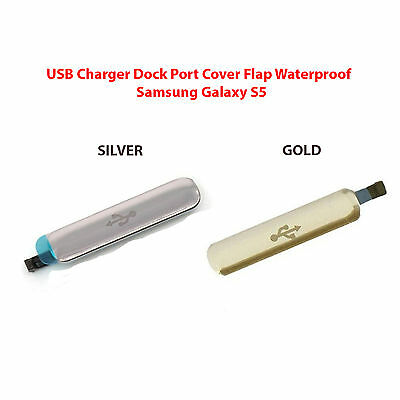 OEM USB Charger Port Cover Flap Waterproof For Samsung Galaxy S5 SV I9600 G900 ()