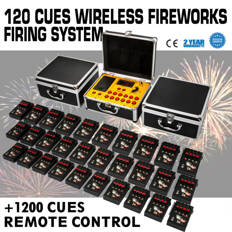 120 Cues Fireworks Firing System With 1200 Cues Wireless Remote Control