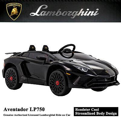 12V Lamborghini Kids Ride on Car Remote Control Electric Toy Battery Power Black