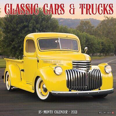 Classic Cars & Trucks 2021 Wall Calendar (Free Shipping)