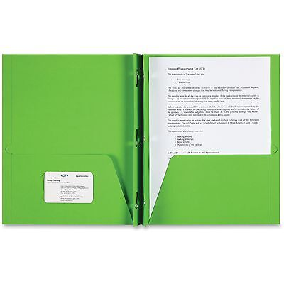 Sparco 2-pocket Folder 3 Prong 25bx Apple Green 78542