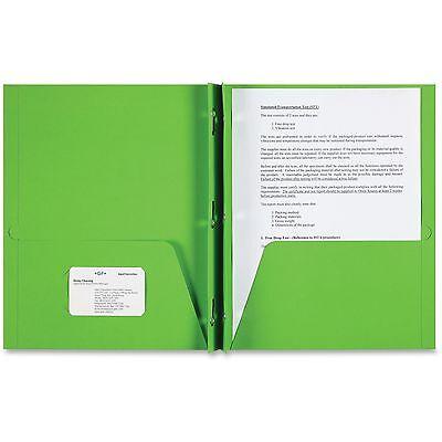 Sparco 2-Pocket Folder 3 Prong 25/BX Apple Green - 3 Pocket Folder
