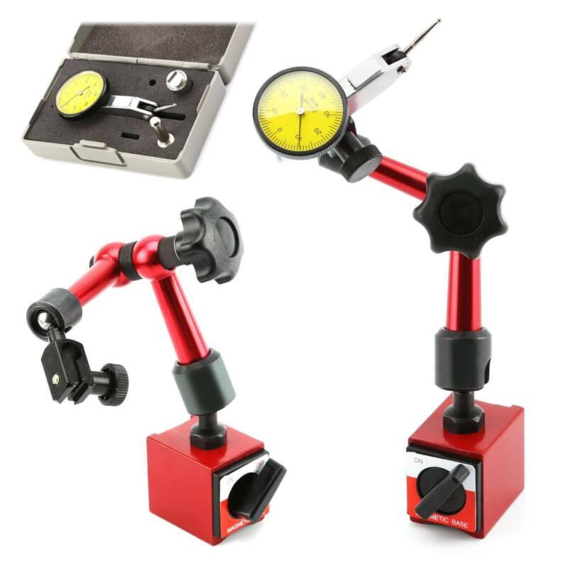 Backlash Tool Dial Indicator Gauge Magnetic Base Point Precision Inspection Set