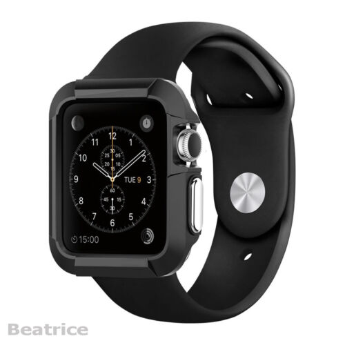 Apple Watch Case 42mm Cover Protector iWatch Black Protective Bumper Rugged