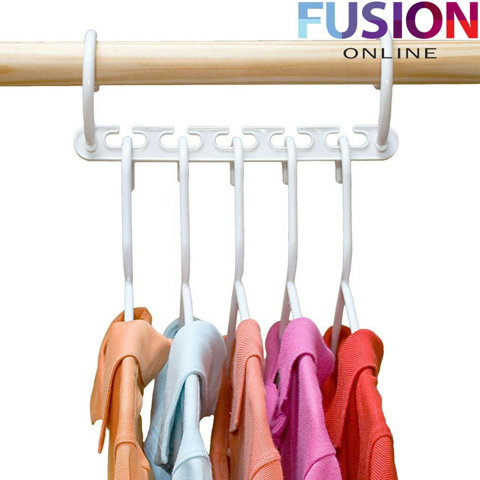 multi function clothes hangers space saving closet organizer magic wonder rack ebay. Black Bedroom Furniture Sets. Home Design Ideas