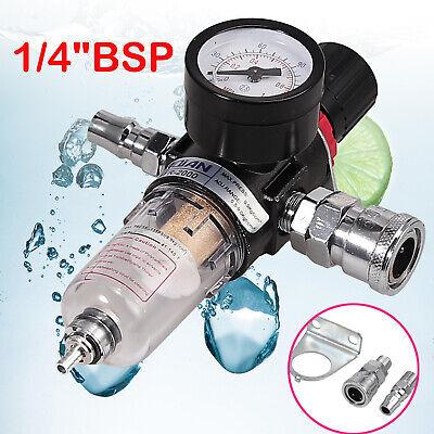 14 Bsp Air Compressor Moisture Trap Oil Water Filter Regulator Lubricator New