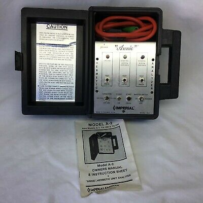 Imperial Annie Hermetic Analyzer Model A-2 Test Instrument Hvac Refrigeration