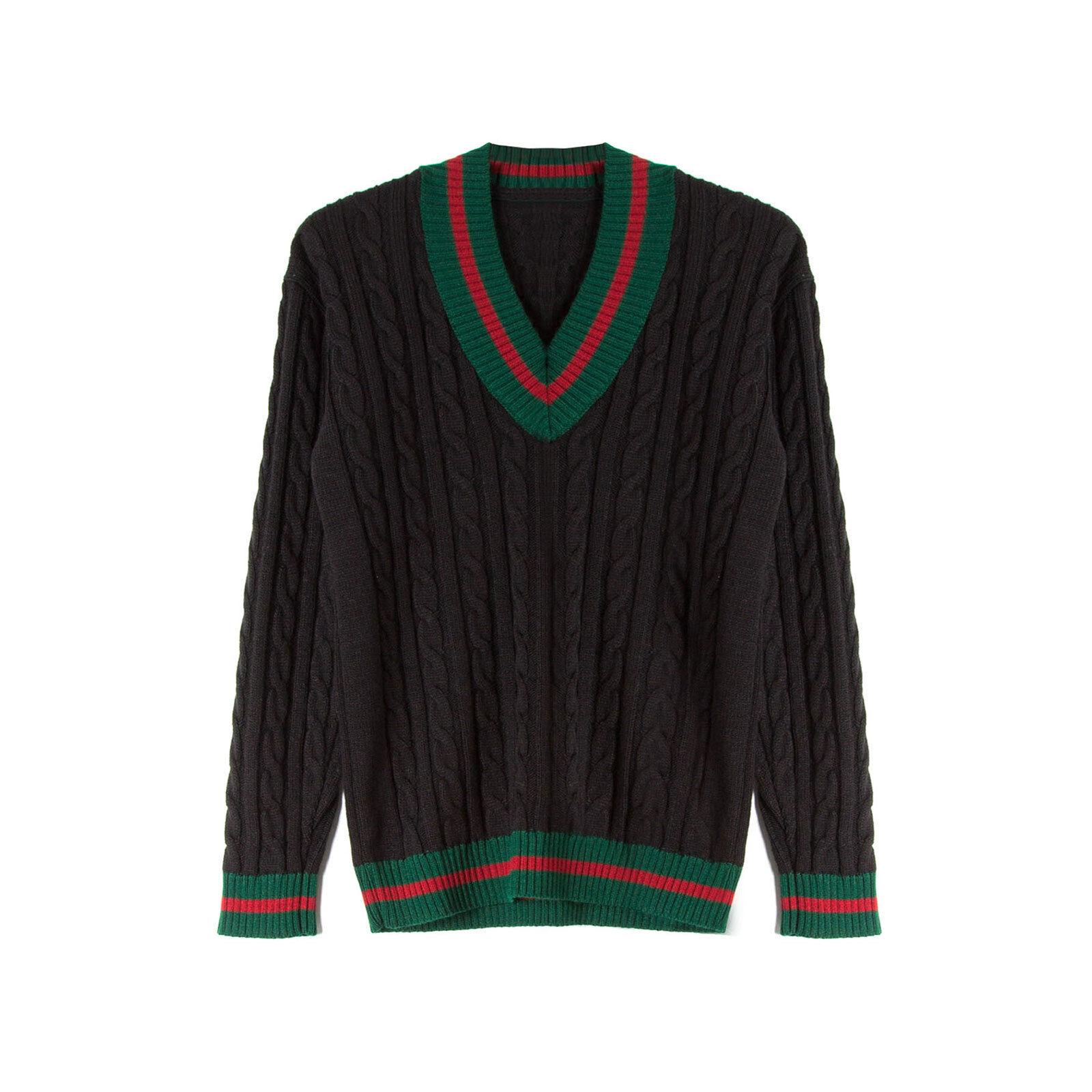 Maglione uomo maglioncino pullover golfino invernale scollo a V nuovo slim  uy267 2f74001dd7b1