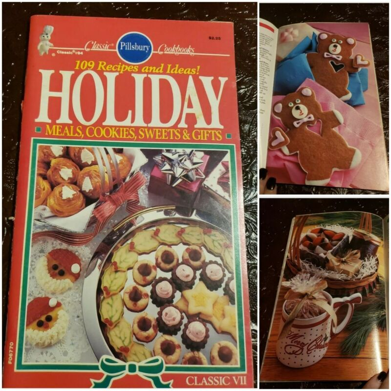 Pillsbury 109 Recipes And Ideas Holiday Meals Cookies Sweets Retro Cookbook 1988