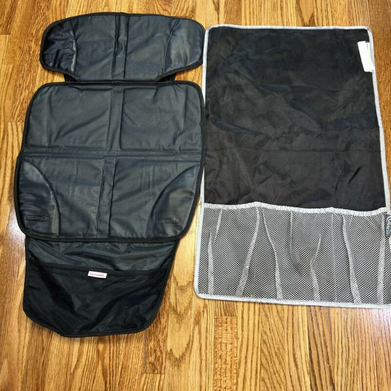 Lot-of-2 Graco Munchkin Car Seat Auto Seat Protector Black Pre-Owned