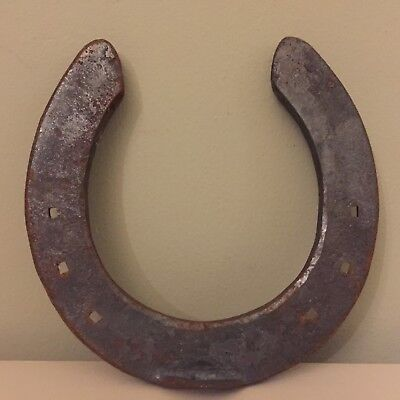 Vintage Wrought Iron Horse Shoe Grey Door Hang Lean Good Luck Wedding 11cm C