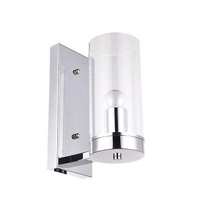 (Camden Glass Pendant Wall Light Chrome Fittings Suit Home, Office or Restaurant)