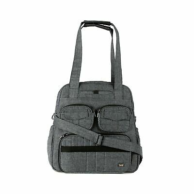 Lug Heather Gray Puddle Jumper Overnight Gym Diaper Travel Work Bag ~ M3020