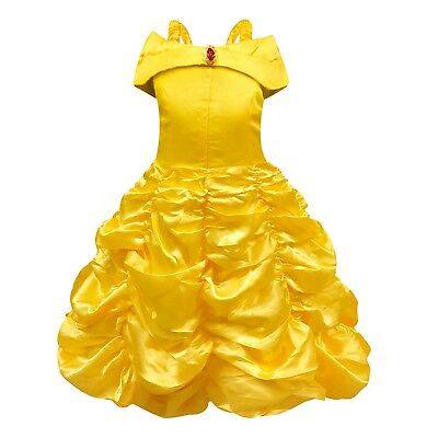 Princess Belle Costume Dress for Kids Girls Halloween Cosplay Fancy Party dress](Princess Belle Costume For Teens)