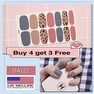 Full Cover Nail Polish Wraps Self-adhesive Nail Stickers Nail Art Decoration DIY