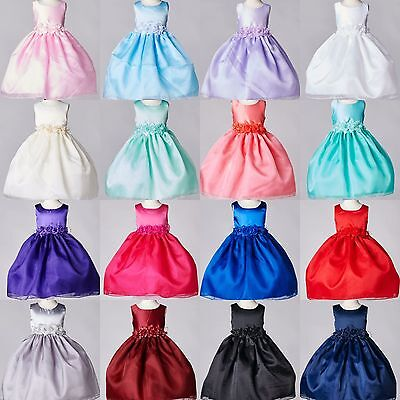 NEW Organza & Satin Dress Flower Girl Formal Pageant Recital Birthday Wedding#35 - Flower Girl Dresses Organza