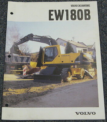 Volvo Ew180b Excavator Brochure Manual