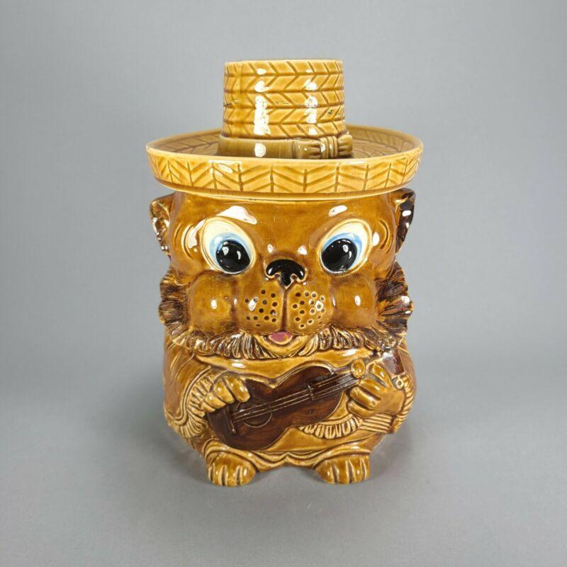 Vintage South Western Bear Cookie Treat Jar Japan