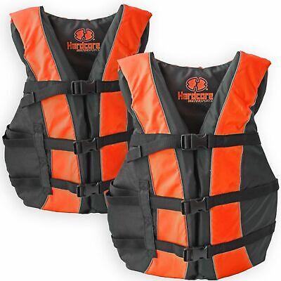 2 Pack Hardcore Adult Life Jacket PFD Type III Coast Guard S