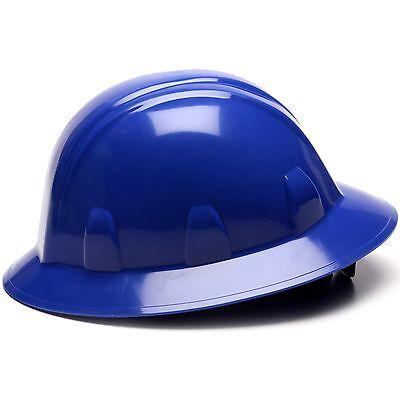 Pyramex Full Brim Hard Hat With 6 Point Ratchet Suspension Blue