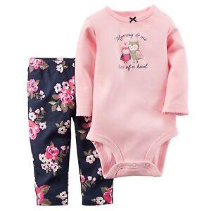 Carters Newborn 3 6 9 12 18 24 Months Bodysuit Pants Set