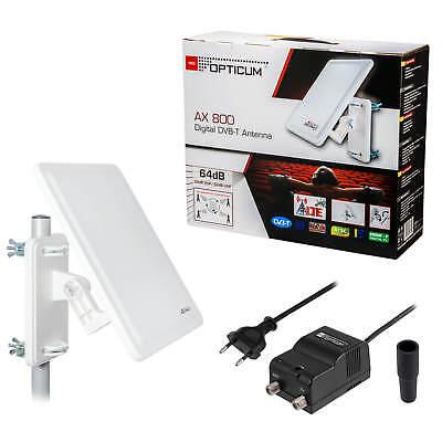 Opticum AX 800 DVB-T Verstärkung 64dB Antenne Außenantenne HD Freenet TV Digital