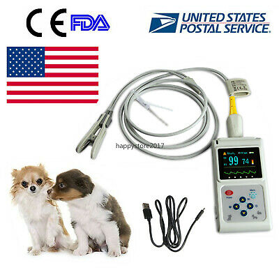 Cms60d Vet Veterinary Pulse Oximeter Spo2 Pr Monitor Ear Lobe Sensor Cefda