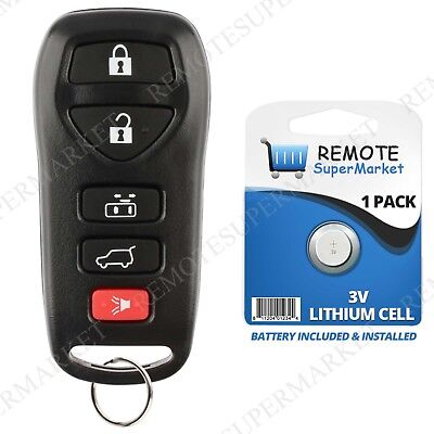 Replacement for 2004 2005 2006 2007 2008 2009 Nissan Quest Remote Car Key Fob 5b