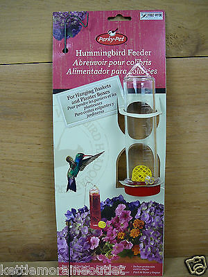 Hanging Baskets Hummingbirds - Perky Pet Hanging Basket Planter Box Small Hummingbird Feeder w/ Stake 3oz