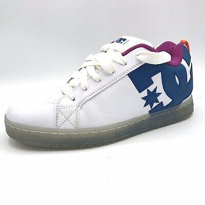 DC Shoes Men's Court Graffik SE Low Top Sneaker Shoes White Black Cyan Sz (Court Graffik Se Sneaker)