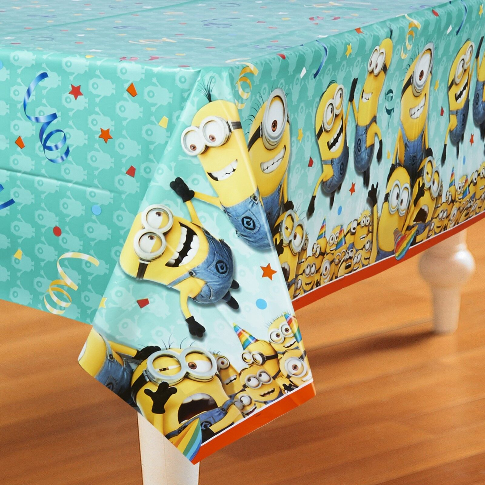 Click Thumbnails to Enlarge. Minions Large Table Cover ...  sc 1 st  eBay & Despicable Me 2 Minions Stuart Kevin \u0026 Bob Birthday Table Cover 54\