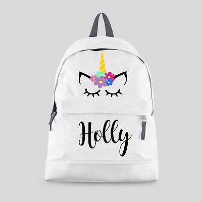 Personalised Kids Backpack - Any Name Unicorn Girls Back To School Bag #CBPFU