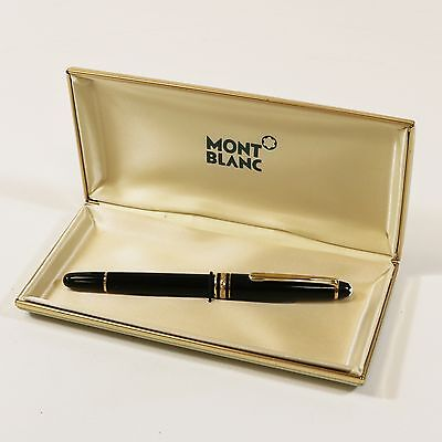 Vtg Montblanc Meisterstuck Classique 144 Fountain Pen w/ 14K 4810 Nib & Orig Box