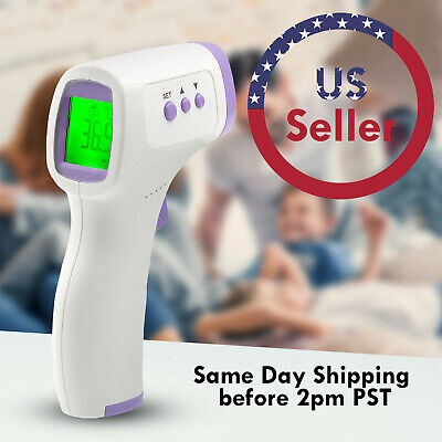 No-Touch/Contact Infrared Thermometer Digital LCD Forehead Laser Temperature Gun