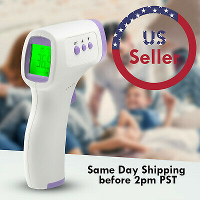 No-touchcontact Infrared Thermometer Digital Lcd Forehead Laser Temperature Gun