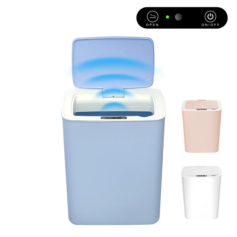 Large Motion Sensor Trash Can w/Lid Automatic Touchless Odor Protection