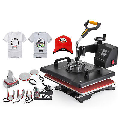 8 In 1 T-shirt Heat Press Machine Latte Mug Coaster Cup Sublimation Printing