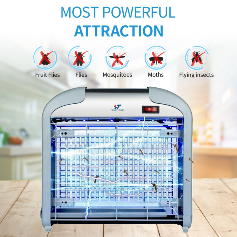 【16 Pcs LED Lights】Electric Bug Zapper Insect Killer Fly Moth Mosquito Killer
