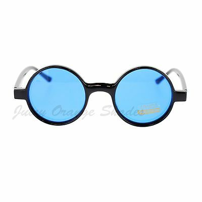 Black Round Circle Frame Sunglasses Small Narrow Color (Narrow Frame Sunglasses)