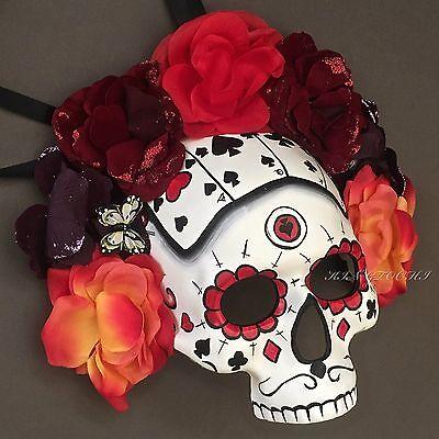 Halloween Day of the Dead Abundant Floral Women Skull Mask