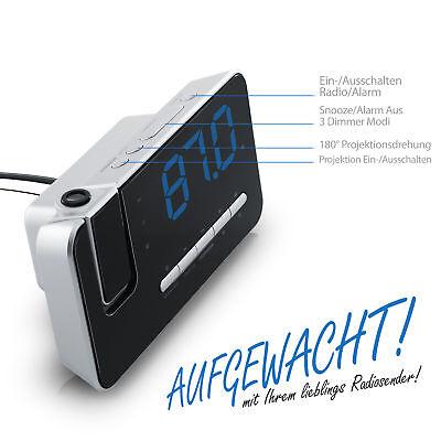 Brandson FM Radiowecker / Projektionswecker / Uhrenradio / digitaler Wecker