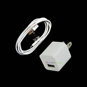 USB Home Wall AC Charger And USB Data Sync Cable Combo for iPod Touch 5 5th Gen