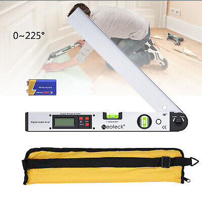 0225electronic Digital Level Angle Finder Goniometer Protractor Gauge Ruler Us