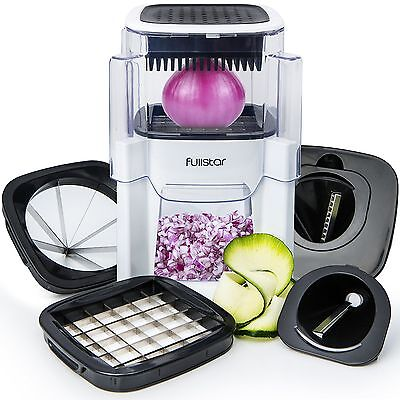Vegetable Chopper Onion and Fruit Cutter (5 In 1) Dicer with 2 Spiral Slicer ...