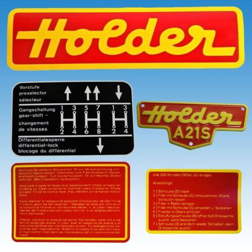Aufkleber - Satz Holder A 21 S mit Blech-Typenschild 5-teilig 015111  Foto 1