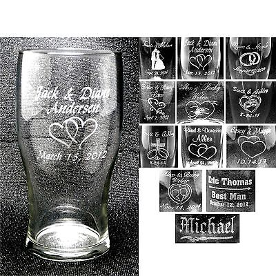 Personalized Tumbler Glasses Custom Wedding Party Groomsmen Anniversary Gifts - Wedding Party Glasses