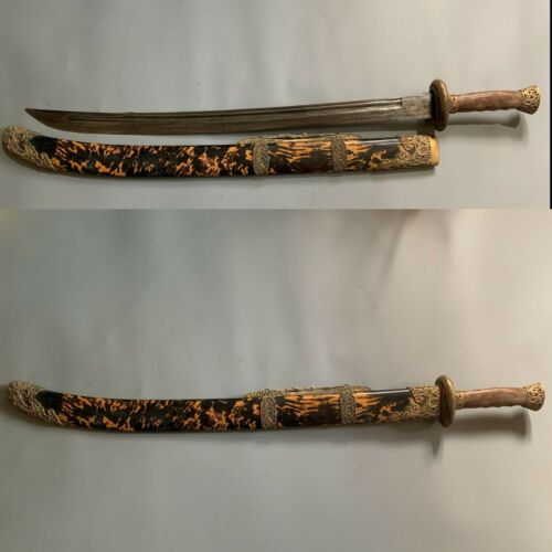 "Collectable Handmade ""Qing Dao"" Sword Signed Sharp Old Blade Sharp"