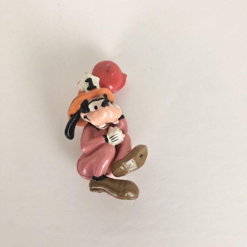 Vintage Disney Goofy Fireman Pencil Topper (Some Damage)